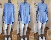 Nereali žydra spalva tunika marškiniai