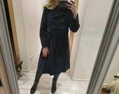 Veliurinis KOOKAI melynas ilgas paltas