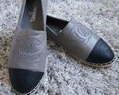 Naujos odinės Chanel espadrilės