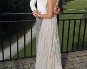 Sidabrinė siuvinėta suknelė