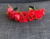 Rožių gėlių lankelis karūna