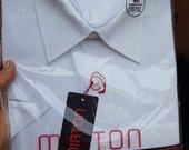 Vyriški balti marškiniai trumpomis rankovėmis