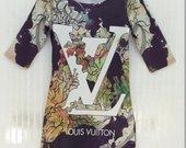 Louis Vuitton stiliaus tampri suknele