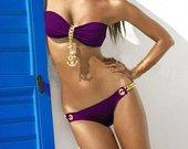 Bikini su auksiniu inkaru