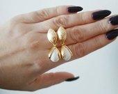 Nauji aukso spalvos auskarai