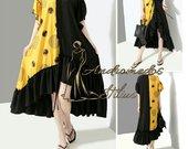 Yellow/Black Italiska suknelė tunika