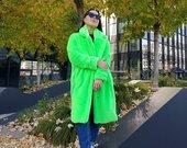 wow bomba neoniniai kailinukai paltas