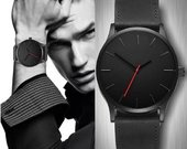 Naujas, juodos spalvos vyriškas laikrodis