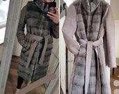 Kašmyro ir audines paltas