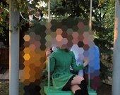 Puošni žalia suknelė