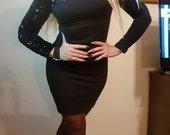 Elegantška juoda-puošni