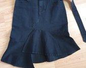 Juodos spalvos džinsinis sijonas