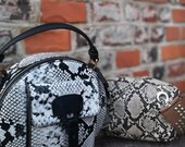 Gyvatės odos imitacinė rankinė