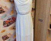Balta plona suknele