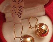 Nauji auksiniai auskarai-burbulai
