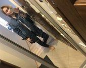 Oversize stiliaus džinsinis melynas švarkas