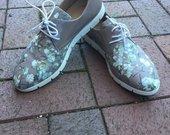 Dekupažiniai gėlėti klasikiniai batai