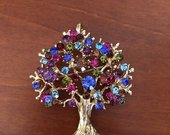 Medis sagė pakabukas kristalai aukso