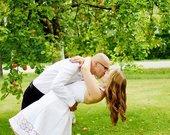 Balta nėriniuota krikštynų/vestuvinė suknelė