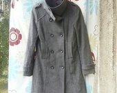 Gražus šiltas pilkas klasikinis paltas