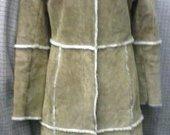 VILA kailinis paltas su paslėptu užsegimu 3089-18