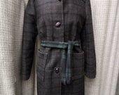 Pašiltintas paltas su sagom 4091-1