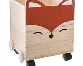 Medinė žaislų dėžė