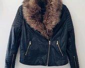 H&M biker jacket odinė striukė