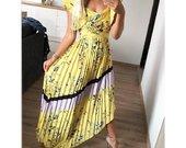 Nauja ilga geltona suknele