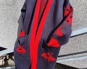 Šiltas ilgas kardiganas gucci stiliaus