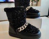 Silti karakulio kailio ugg stiliaus sniego batai