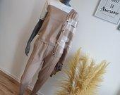 3-jų dalių stilingas kreminis kostiumėlis