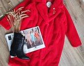 Itališkas raudonas paltas oversize