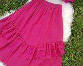 Ryškus ilgas rožinis sijonas