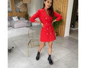 Nauja svarko stiliaus raudona suknele
