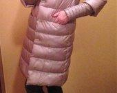 Šiltas Chiaggo paltas su triušio apykakle