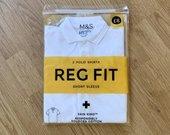 Nauji balti M&S berniuko polo marškinėliai
