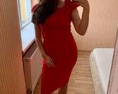 Nauja ryški raudona suknelė