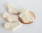 Vilnonės kojinės kūdikiui, 8-9cm