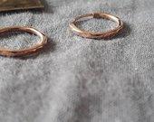 Tikro aukso puošnūs auskarai