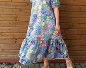 Ilga lengva gėlėta suknelė