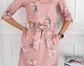 Lengva suknelė su paukščiais