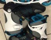 K2 Alexiss pro mėlyni juodi riedučiai