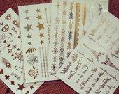 Laikinos auksinės ir sidabrinės tattoo