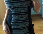 H&M juodai balta suknelė