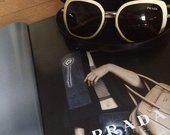 Balti Prada akiniai