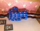 mėlyna stilinga mini suknytė