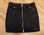 Naujas juodas BIK BOK eko odos XS dydžio sijonas