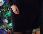 Violetinė aksominė / veliūrinė puošni suknelė