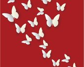 3D drugeliai